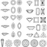 Set of shapes of diamond Royalty Free Stock Photography