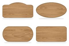 Shapes wooden sign boards Royalty Free Stock Photo
