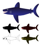 Set of sharks Royalty Free Stock Photo