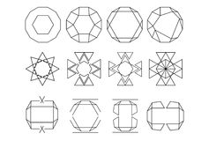 Set of sharp line logos Stock Images