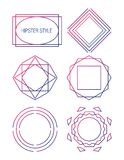 Set of sharp mistical line logos. Vector line logos and icons. Line design elements for invitations and greeting cards. Vector emblems and badges. Abstract Vector Illustration