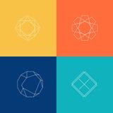 Set of sharp mistical line logos Stock Image