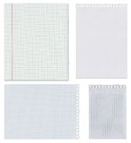 Set of sheets of blank paper Stock Photography