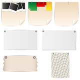 Set of sheets of paper stationery Stock Photos