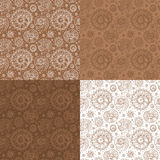 Set of shells seamless pattern Royalty Free Stock Photo