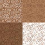Set of shells seamless pattern Royalty Free Stock Photo