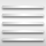 Set Of 5 Shelves Royalty Free Stock Images