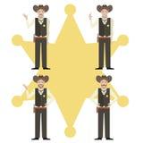 Set of Sheriffs Royalty Free Stock Image