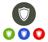 Set of shield icon illustrated Royalty Free Stock Photo