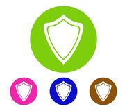 Set of shield icon illustrated Stock Images