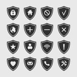 Set of shield icon. Royalty Free Stock Photo