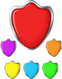 Set of Shield Icons Royalty Free Stock Images