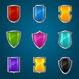Set of shield icons, symbols and signs Stock Photography