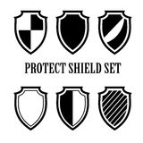 Set of shield icons. Vector  emblems templates for design Stock Images