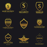 Set of Shield logo. Protection company. Security. Guardian. Vector illustration. Royalty Free Stock Image