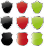Set of  shields Royalty Free Stock Photos