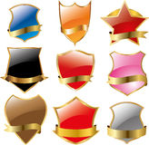 Set of shields Royalty Free Stock Images