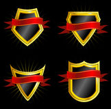 Set of Shields Stock Images