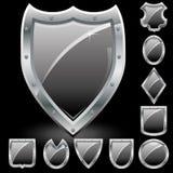 Set of shields Stock Photography