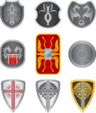 Set of shields Royalty Free Stock Photo