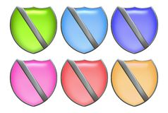 Set Of Shields Royalty Free Stock Photography