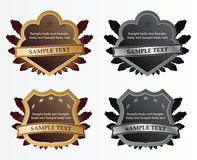 Set of shields. Set of vector shields on white background Royalty Free Stock Photo