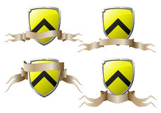 Set of shields with banners Stock Images