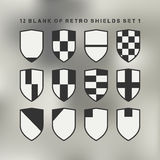 Set of shields black and white Royalty Free Stock Photos