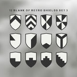 Set of shields black and white Stock Image