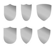 Set of shields illustrated Stock Photography
