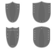Set of shields illustrated Royalty Free Stock Image