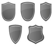 Set of shields illustrated Royalty Free Stock Photos