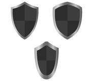 Set of shields illustrated Stock Photos