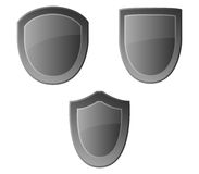 Set of shields illustrated Royalty Free Stock Photography