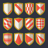 Set of shields red 2 Stock Photo