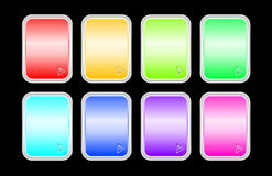 Set of shine badges Royalty Free Stock Photography