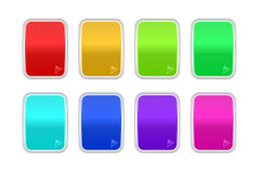 Set of shine badges Royalty Free Stock Images