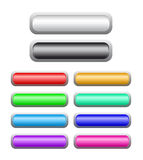 Set of shine buttons Royalty Free Stock Photo