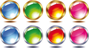 Set of shining balls Royalty Free Stock Photography