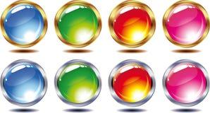 Set of shining balls Royalty Free Stock Photography