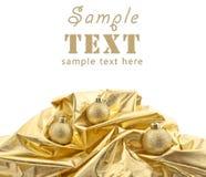 Set of shining Christmas-tree decorations Stock Photos