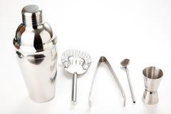 Set of shiny aluminum shaker Stock Images