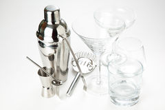 Set of shiny aluminum shaker Royalty Free Stock Image