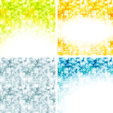 Set of shiny backgrounds Royalty Free Stock Photography