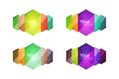 Set of  shiny blank boxes for your content Royalty Free Stock Photo