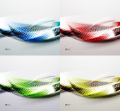 Set of shiny blurred wave abstract backgrounds Royalty Free Stock Image