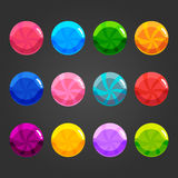Set of shiny bubbles candy. Set of cute cartoon shiny bubbles candy. Vector element can be used for game design Stock Image