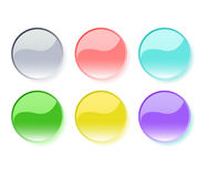 Set of shiny buttons Stock Photography