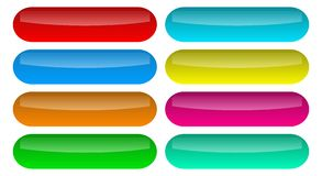 Free Set Shiny Buttons Icons Vector Stock Image - 145221361