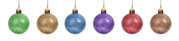 Set shiny  christmas ball isolated white background Stock Image